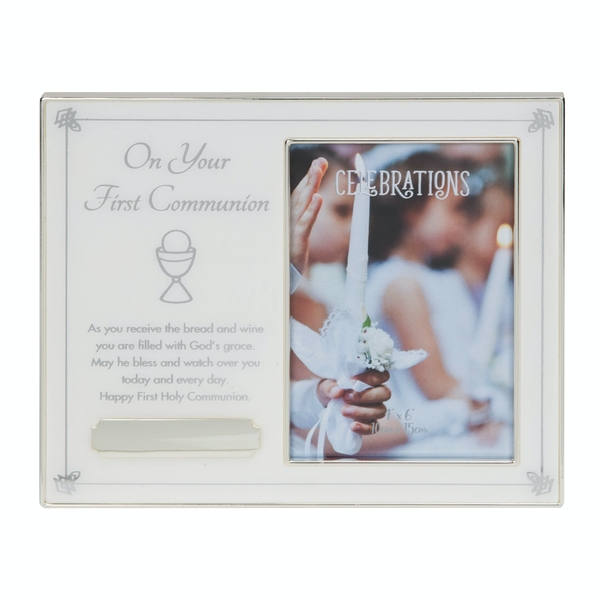 """4"""" x 6"""" - Your First Communion Frame with Engraving Plate"""
