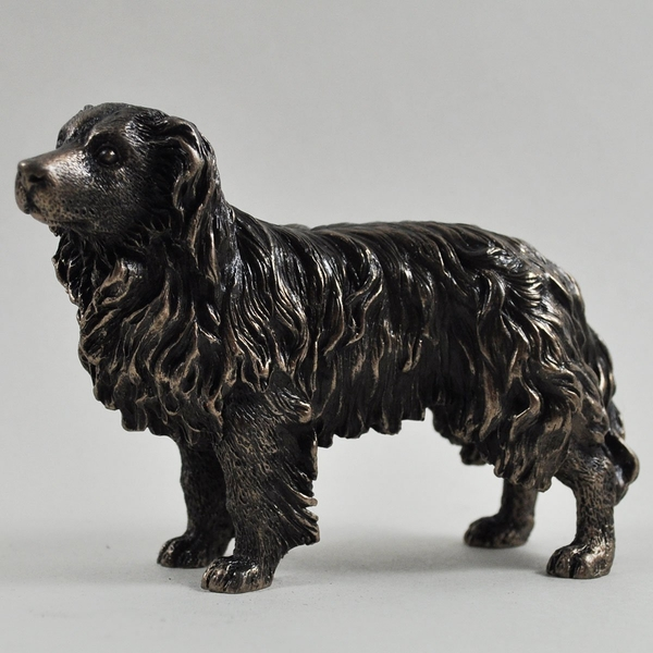 Border Collie Cold Cast Bronze Statue Sculpture 7cm