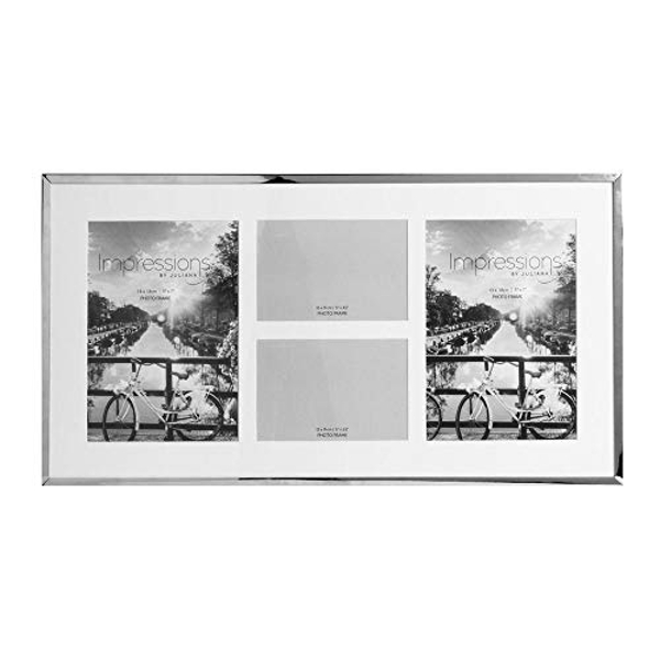 Impressions Nickel Plated Photo Frame 4 Apertures