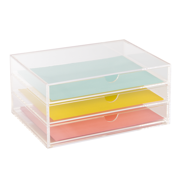 Acrylic Stationery & Paper Drawers Acrylic Stationery Drawers (A5) Pukkr