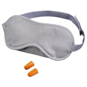 Hama Padded Eye Mask with Two Ear Plugs, grey