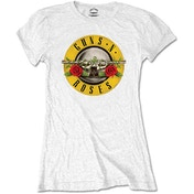 Guns N' Roses - Classic Logo Women's Medium T-Shirt - White