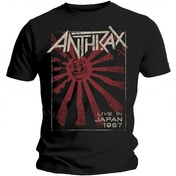 Anthrax Men's - Live in Japan Men's X-Large T-Shirt - Black