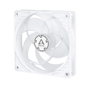 Arctic P12 12cm Pressure Optimised PWM PST Case Fan, White & Transparent, Fluid Dynamic, 10 Year Warranty