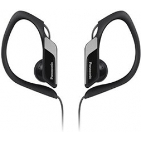 Panasonic Water & Sweat Resistant Sports Earbud Headphones Black