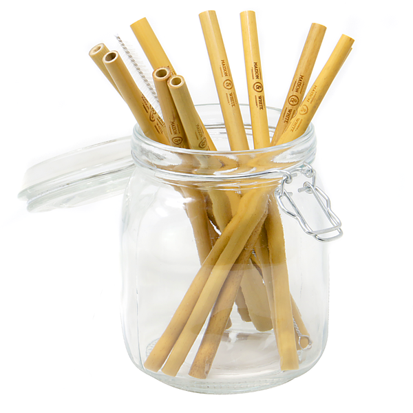 Reusable Bamboo Drinking Straws - Pack of 10 | M&W