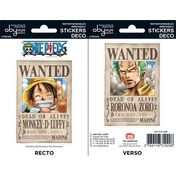 One Piece - Wanted Luffy/ Zoro Mini Stickers