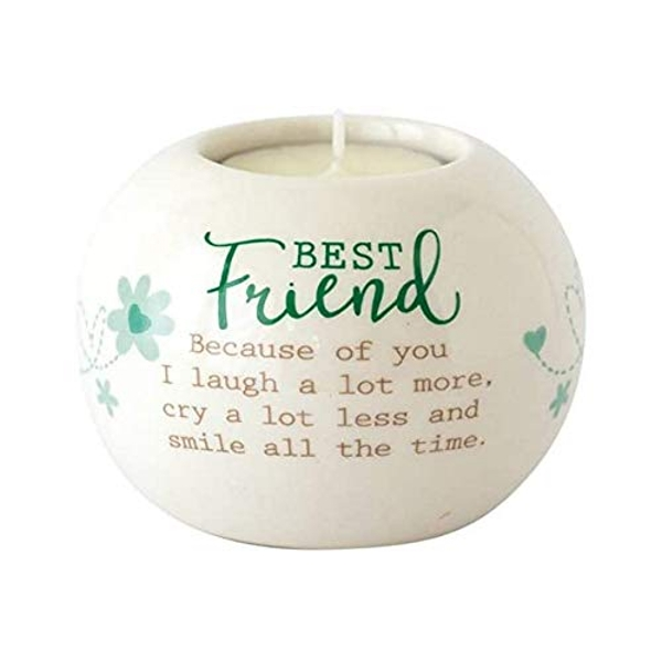Said with sentiment Ceramic Tealight Candle Holder - Best Friend