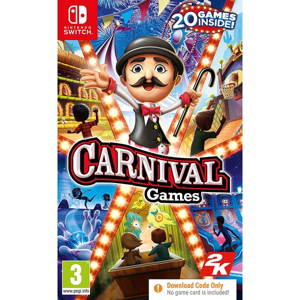 Carnival Games Nintendo Switch Game [Code in a Box]