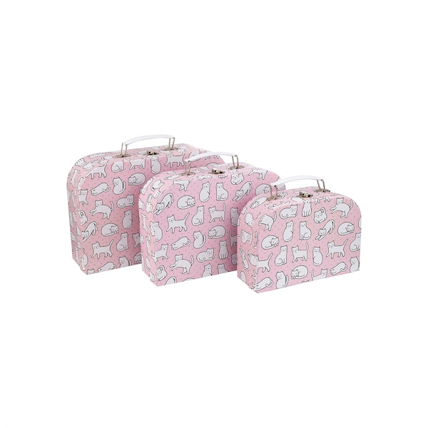 Sass & Belle Cutie Cat Suitcases (Set of 3)