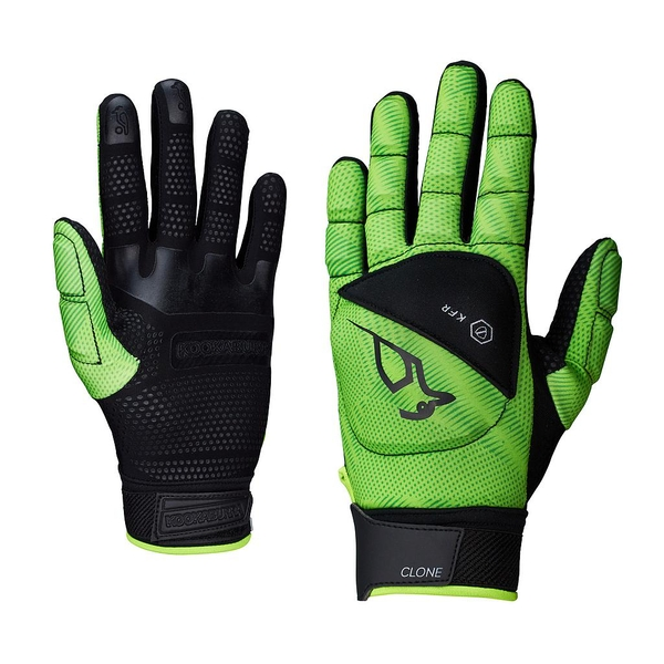 Kookaburra Clone Full Finger Hand Guard Black/Lime Small LH