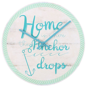 Home is where the Anchor Drops Wall Clock