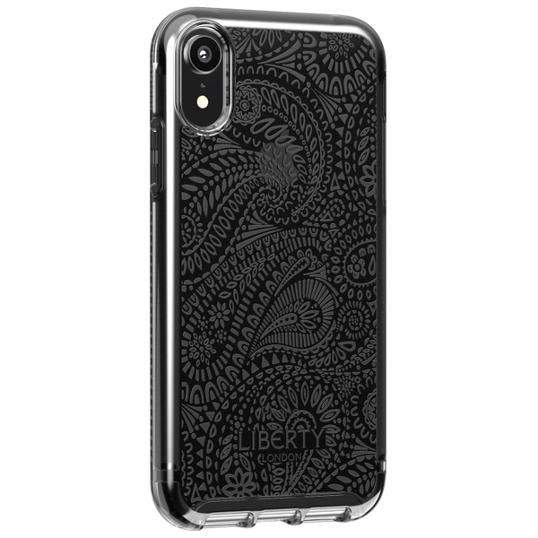 Tech21 Protective Apple iPhone XR Case Ultra-Thin Back Cover with BulletShield - Pure Print Liberty Arundel - Black