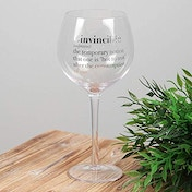 Ginvincible Meaning - Gin Glass