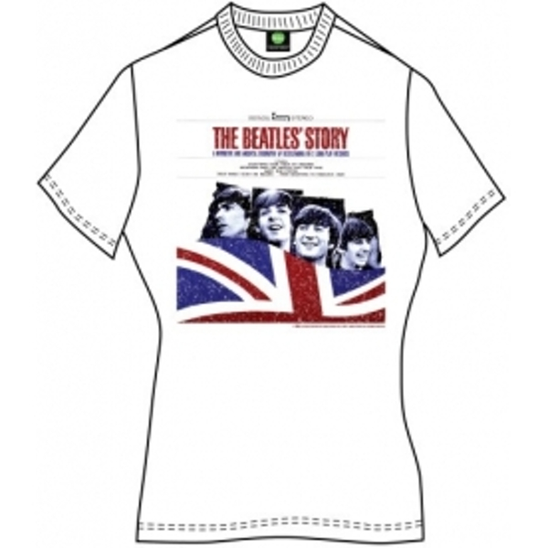 The Beatles The Beatles Story Ladies White T Shirt Large