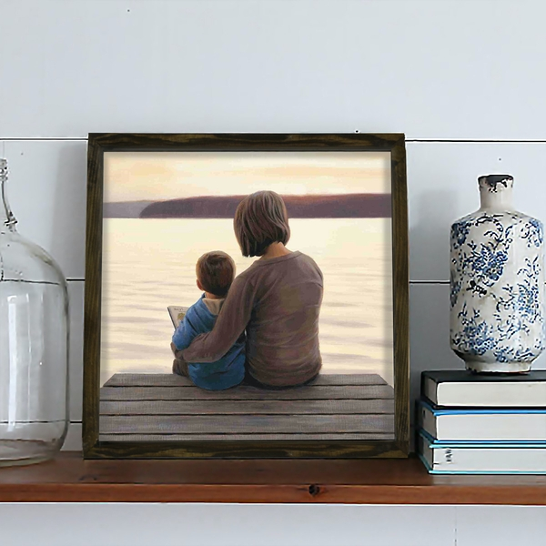 KZM439 Multicolor Decorative Framed MDF Painting