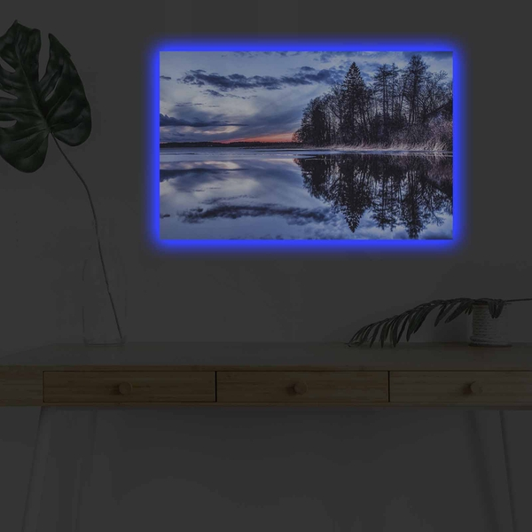 4570DHDACT-013 Multicolor Decorative Led Lighted Canvas Painting