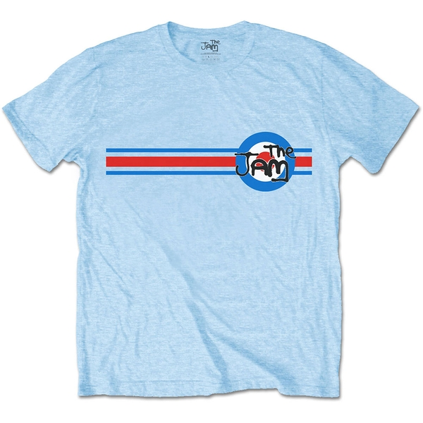 The Jam - Target Stripe Unisex Large T-Shirt - Blue