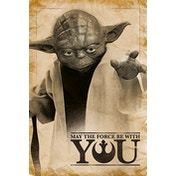 Star Wars - Yoda, May The Force Be With You Maxi Poster