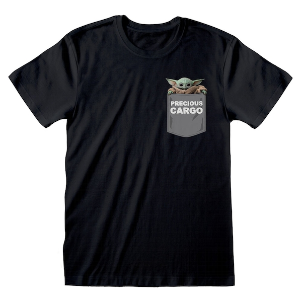 Star Wars - The Mandalorian Precious Cargo Pocket Unisex Medium T-Shirt - Black