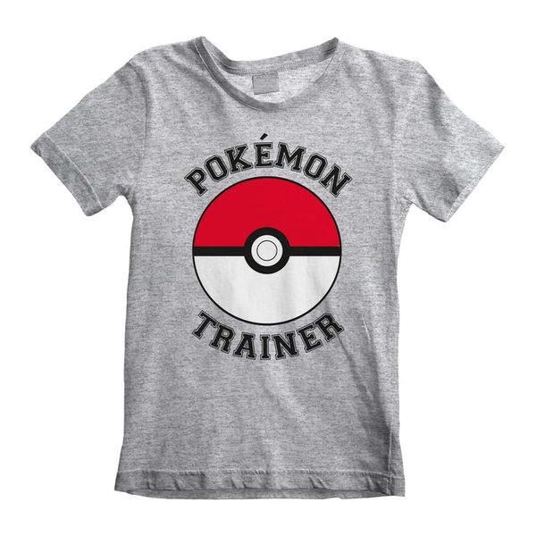 Pokemon - Trainer Unisex 12-13 Years T-Shirt - Grey