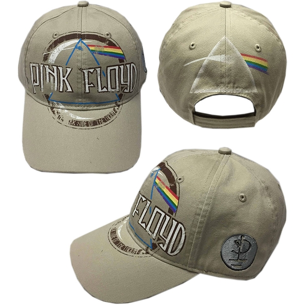 Pink Floyd - Dark Side of the Moon Album Distressed Men's Baseball Cap - Sand