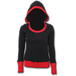 Urban Fashion Wide Rib DrapeWomen's X-Large Hoodie - Black - Image 2