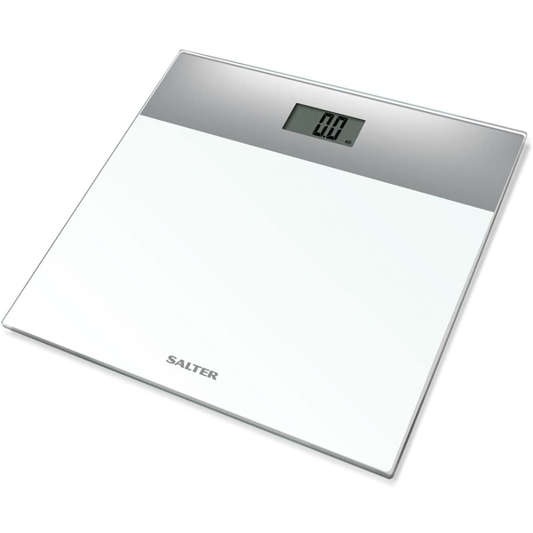 Salter 9206 SVWH3R Glass Electronic Scale White/Silver