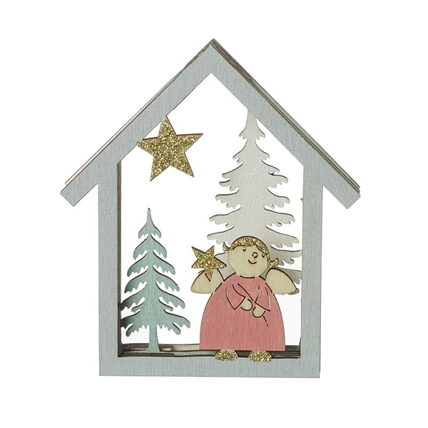 Christmas Scene with Gold Star By Heaven Sends