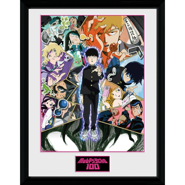 Mob Psycho 100 Collage Framed Collector Print