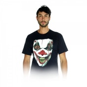 Digital Dudz Adult Unisex Moving Eye Demon Clown Digital X-Large T-Shirt - Black
