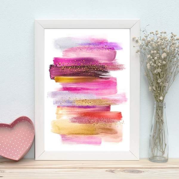 BC631392137 Multicolor Decorative Framed MDF Painting