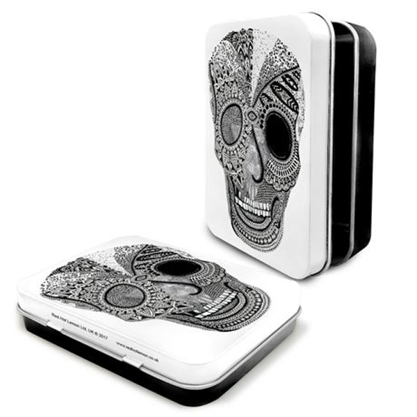 Ink Skull Keepsake Tin 11x8x2cm