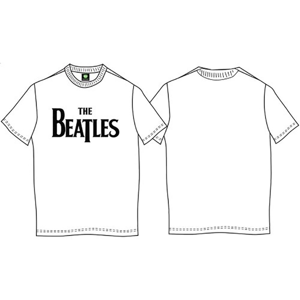 The Beatles - Drop T Logo Kids 5 - 6 Years T-Shirt - White