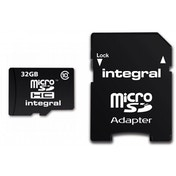 Integral Micro SD Card 32GB with SD Adapter Class 10