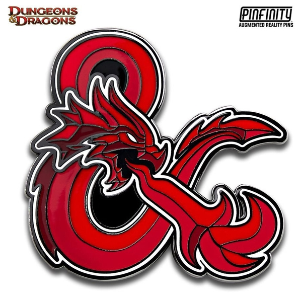 PFDD001 Dungeons & Dragons Dragon Ampersand Augmented Reality Pin