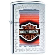 Zippo Harley-Davidson Lustre High Polish Chrome Finish Windproof Lighter