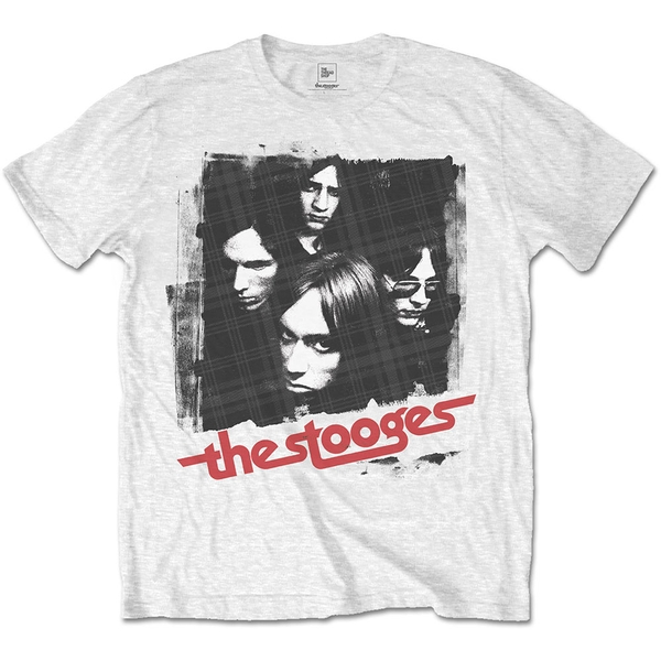 Iggy & The Stooges - Four Faces Men's X-Large T-Shirt - White
