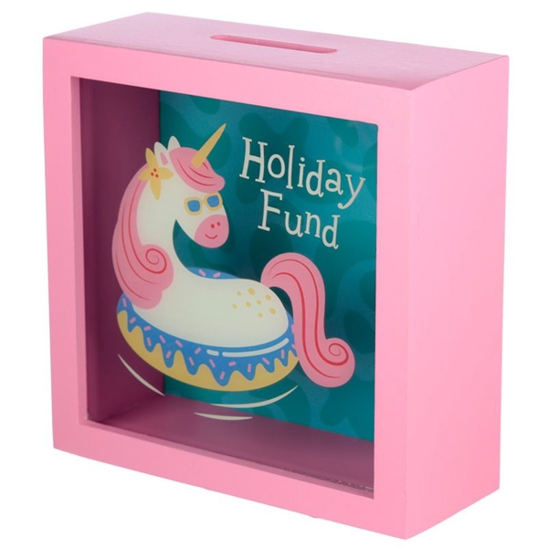 Vacation Vibes Unicorn See Your Savings Money Box