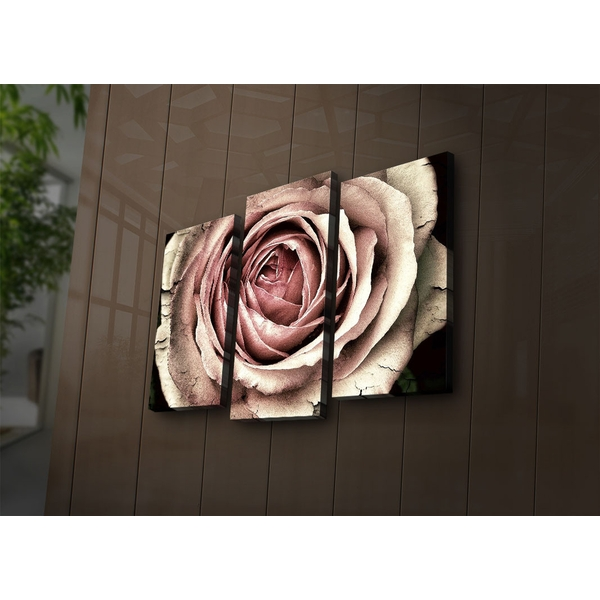 3PAT?ACT-28 Multicolor Decorative Led Lighted Canvas Painting (3 Pieces)