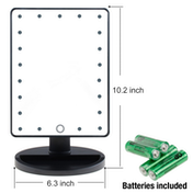 LED Light Up Illuminated Make Up Bathroom Mirror With Magnifier Green House Black