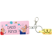 Pack of 6 Dad's Keys Key Rings