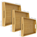 3 Bamboo Wooden Serving Trays | M&W - Image 3