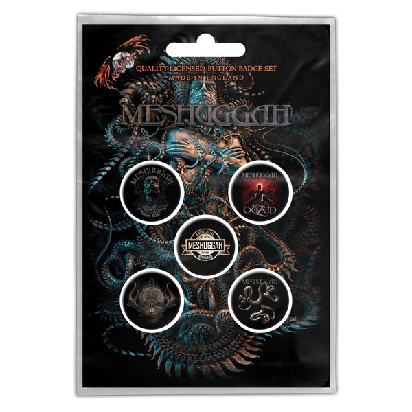 Meshuggah - Violent Sleep of Reason Button Badge Pack