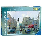 Rainy Day in London 500 Piece Jigsaw Puzzle