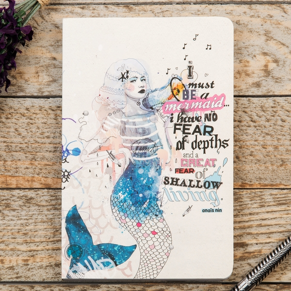 I Must Be A Mermaid Compendium B6 Journal 128 Pages