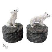 Loyal Guardians (Set of 2) Wolf Boxes