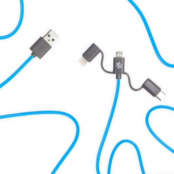 Swipe Link - 3-in-1 Cable 2m - Blue