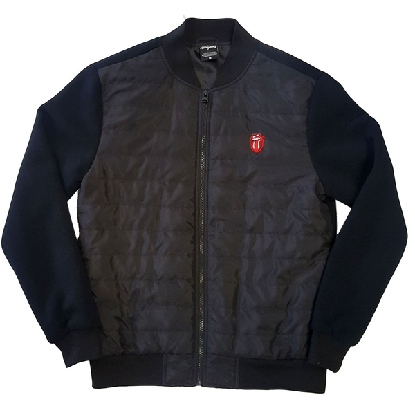 The Rolling Stones - Classic Tongue Unisex Medium Quilted Jacket - Black