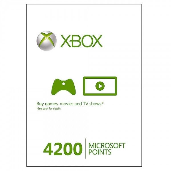 Xbox Live 4200 Points Card Xbox 360